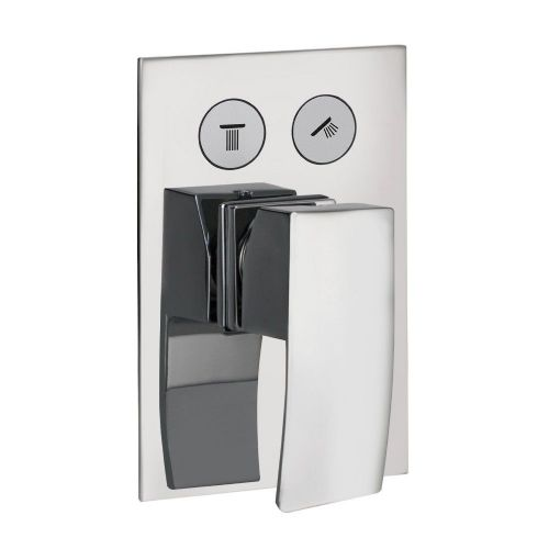 Diamanti Chrome Twin Thermostatic Single Lever Concealed Shower & Diverter